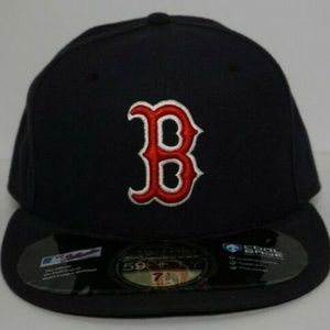 VTG New Era Boston Red Sox Fitted Hat 7 3/8